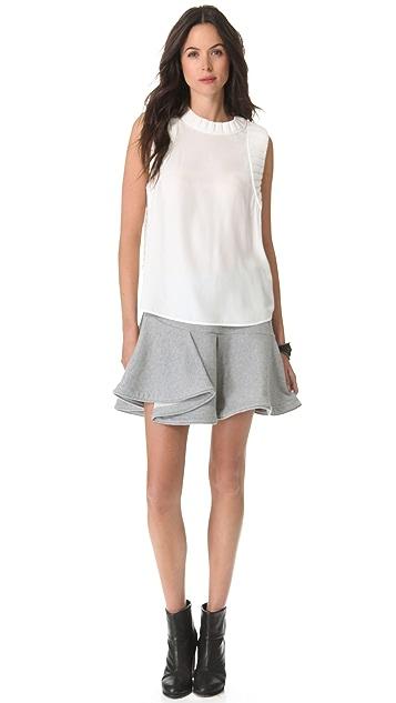 Chalayan Grey Line Whirl Skirt