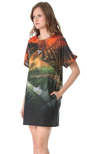 Chalayan Grey Line T-Shirt Dress