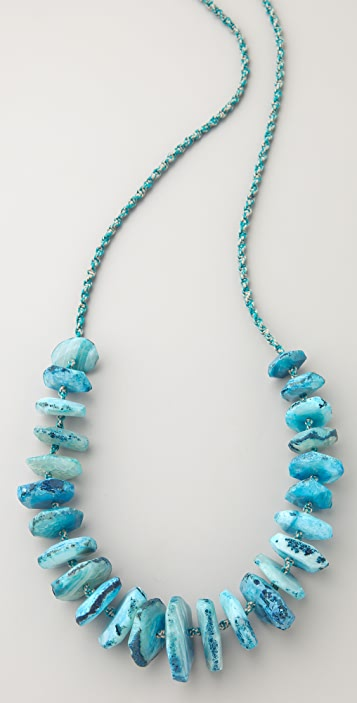 Chan Luu Graduated Agate Stone Necklace
