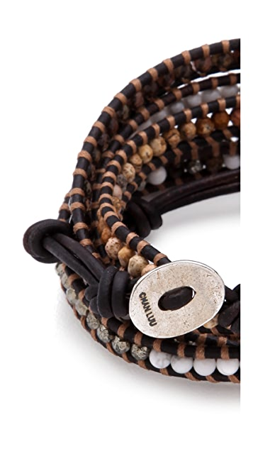 Chan Luu Mixed Bead Wrap Bracelet