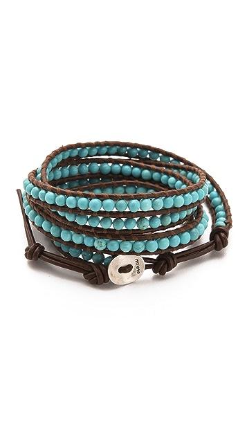 Chan Luu Semi Precious Stone Wrap Bracelet