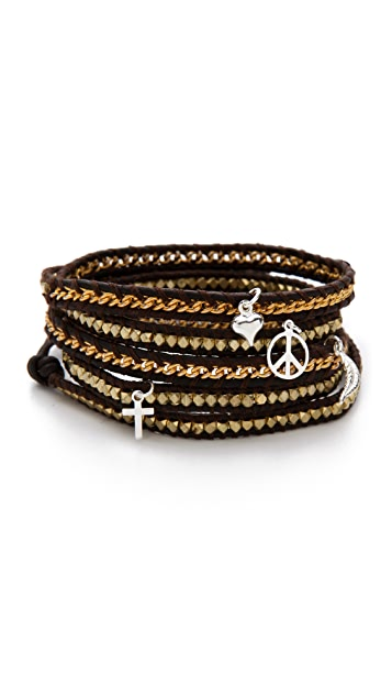 Chan Luu Gold Charm Wrap Bracelet