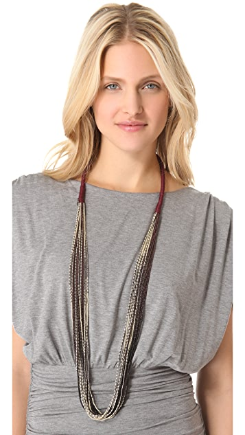 Chan Luu Multi Strand Beaded Necklace