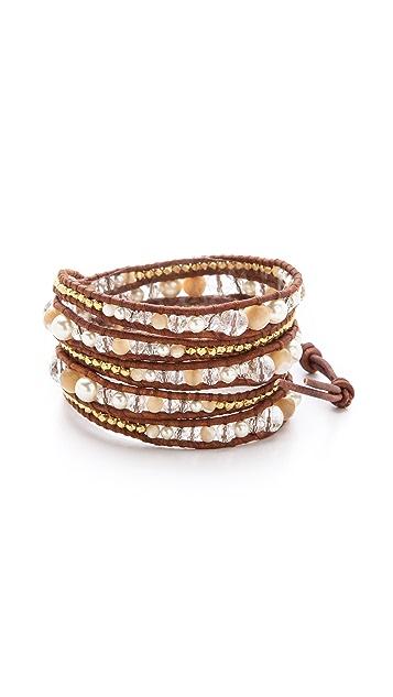 Chan Luu Cultured Freshwater Pearl Wrap Bracelet