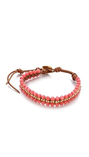 Chan Luu Coral Beaded Bracelet