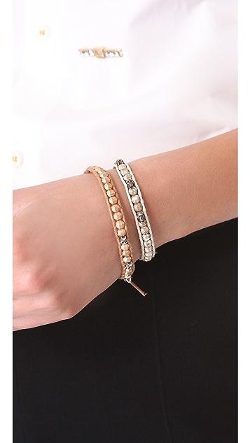 Chan Luu Skull Charm Beaded Bracelet