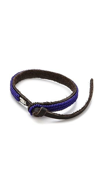 Chan Luu EFI Beaded Leather Cuff