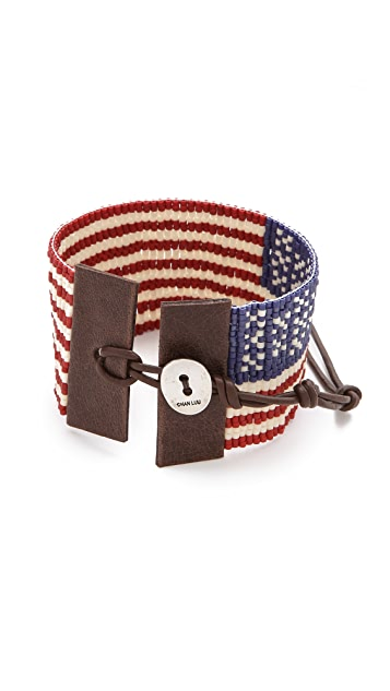 Chan Luu American Flag Bracelet