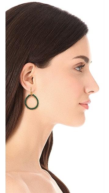 Chan Luu Malachite Hoop Earrings