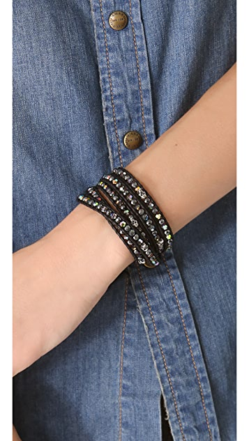 Chan Luu Skull Beaded Wrap Bracelet