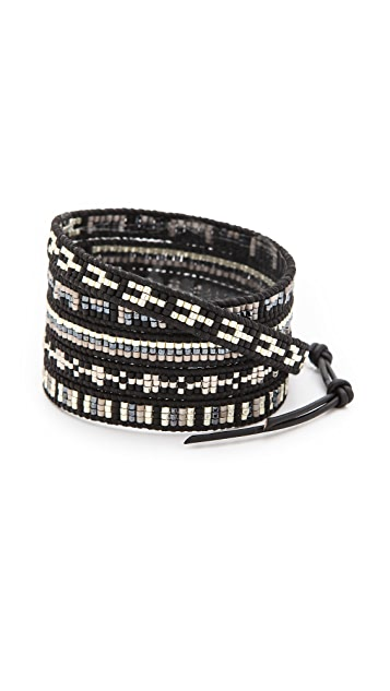 Chan Luu Dark Beaded Wrap Bracelet