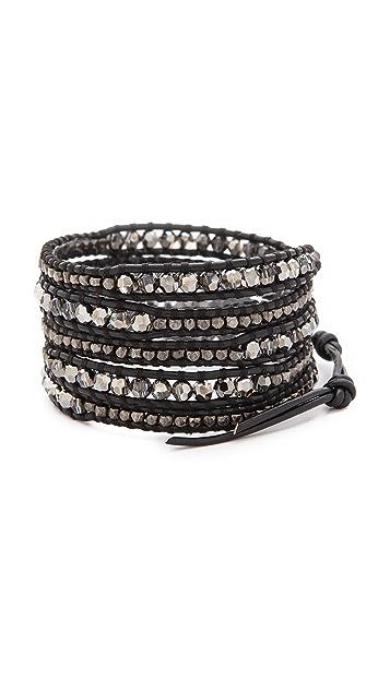 Chan Luu Night Beaded Wrap Bracelet