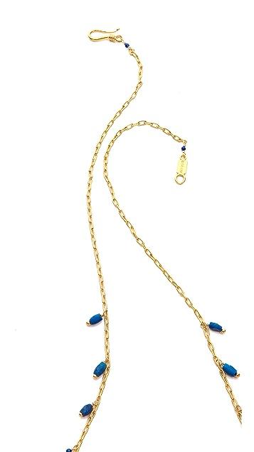 Chan Luu Lapis Tassel Necklace