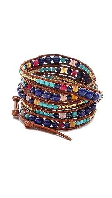 Chan Luu Lapis Beaded Wrap Bracelet