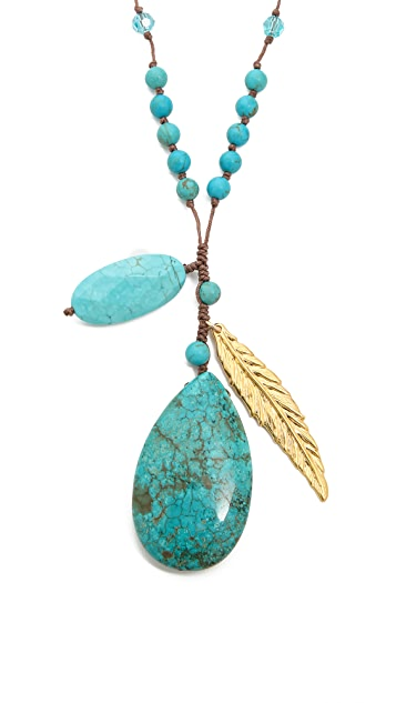 Chan Luu Stone & Feather Necklace