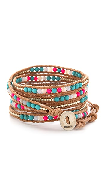 Chan Luu Colorful Beaded Wrap Bracelet