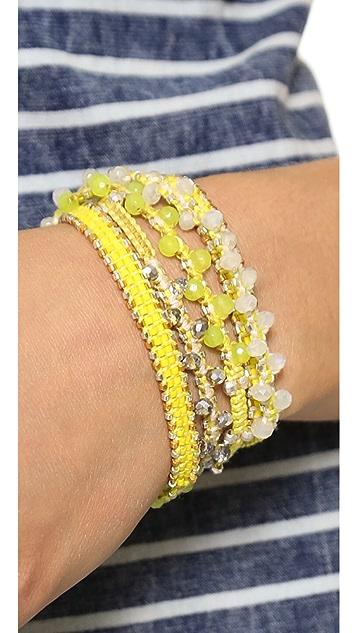Chan Luu Interval Beaded Wrap Bracelet