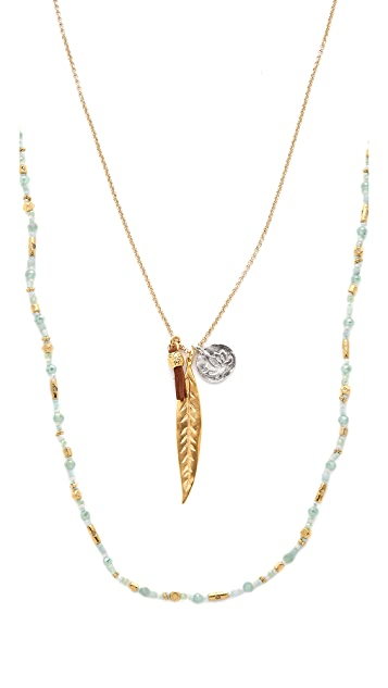 Chan Luu Layered Chain & Bead Necklace