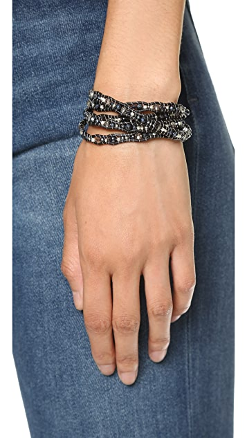Chan Luu Waved Beaded Wrap Bracelet