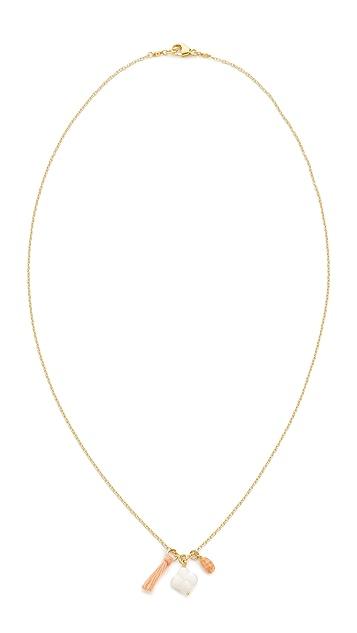 Chan Luu Clover Tassel Necklace