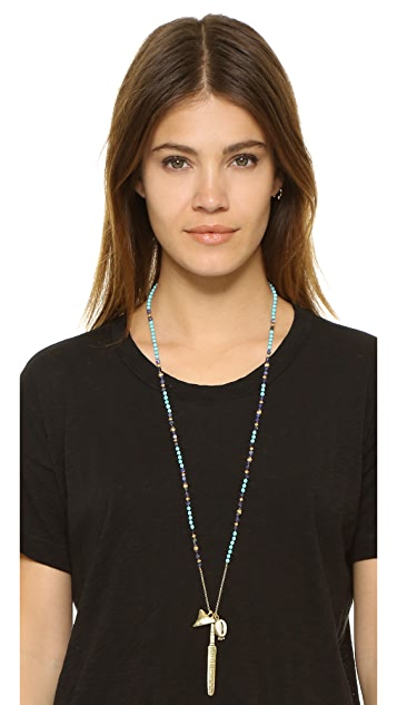 Chan Luu Long Beaded Shell Necklace