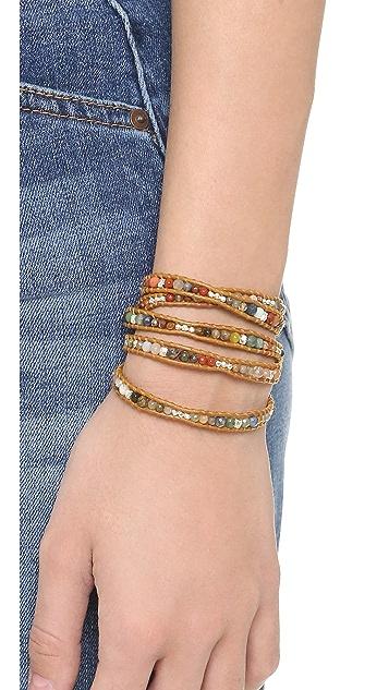 Chan Luu Multi Henna Beaded Wrap Bracelet