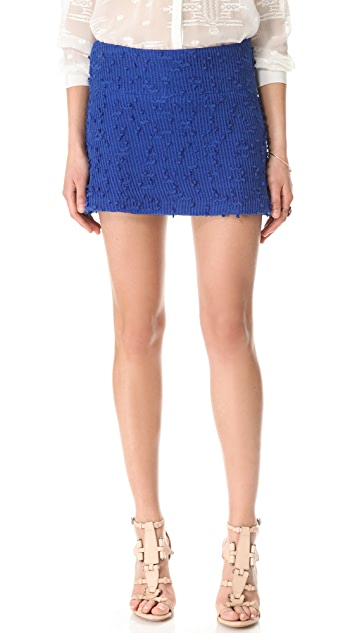 Charles Henry Boucle A Line Skirt