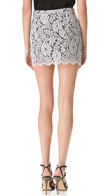 Charles Henry Lace Miniskirt