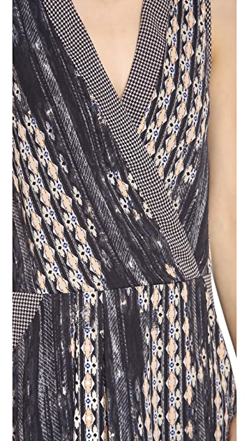 Charles Henry Mock Wrap Dress