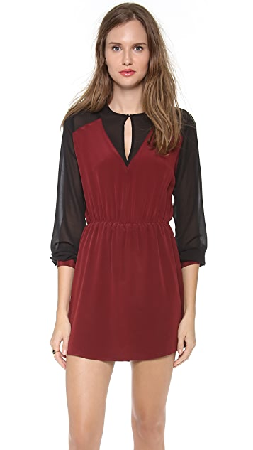 Charles Henry Contrast Sleeve Dress