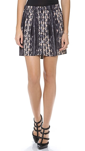 Charles Henry Button Front Skirt