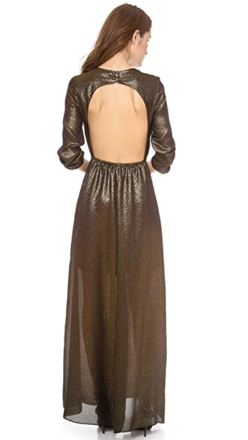 Charles Henry Open Back Maxi Dress