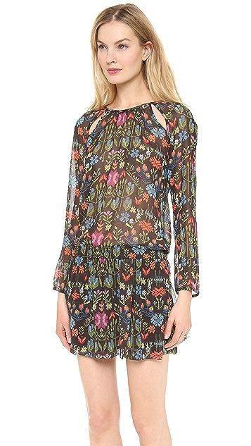 Charles Henry Slit Shoulder Dress