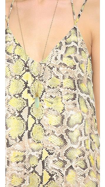 Charles Henry Python Slip Dress