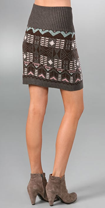 Charlotte Ronson High Waisted Pencil Skirt with Zip