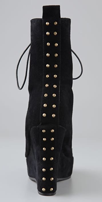 Charlotte Ronson Delia Suede Wedge Booties