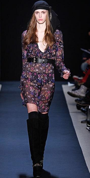 Charlotte Ronson Pleated Ruffle Dress