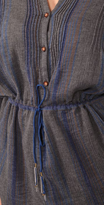 Charlotte Ronson Drop Waist Pleated Tunic