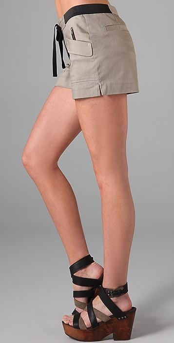 Charlotte Ronson Elastic Waist Shorts