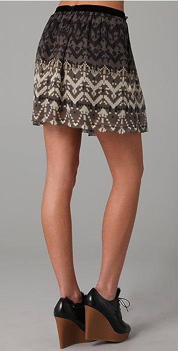 Charlotte Ronson Empress Ethnic Print Skirt