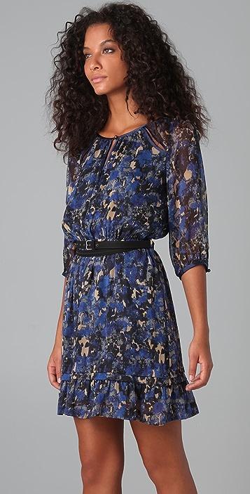 Charlotte Ronson Anastasia Floral Dress with Belt
