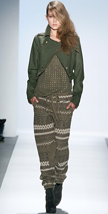 Charlotte Ronson Fair Isle Knit Pants