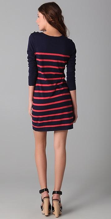Charlotte Ronson Breton Stripe Sweater Dress