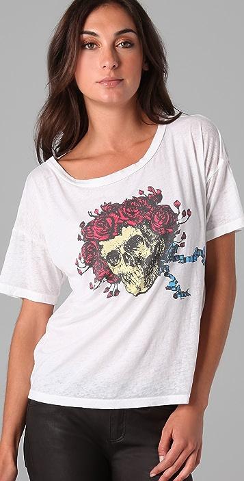 Chaser Skulls & Roses Grateful Dead Tee