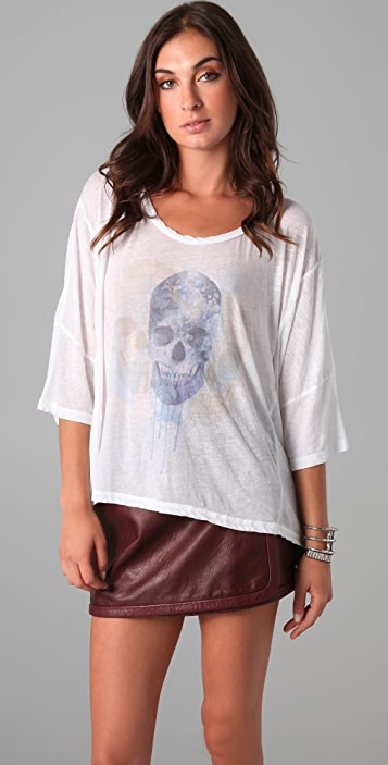 Chaser Watercolor Skull Tee