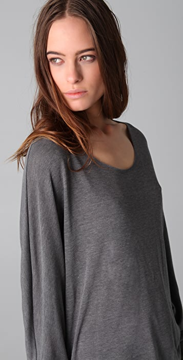 Chaser Raw Off Shoulder Dolman Top