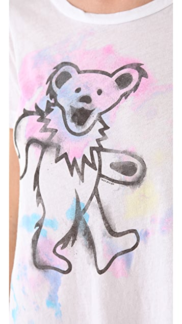 Chaser Watercolor Bear Fringe Tee