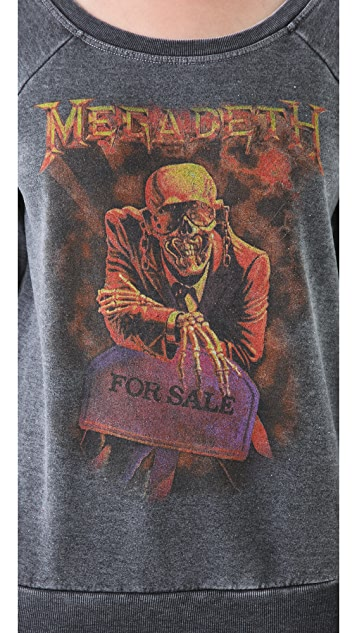 Chaser Megadeth Raglan Sweatshirt