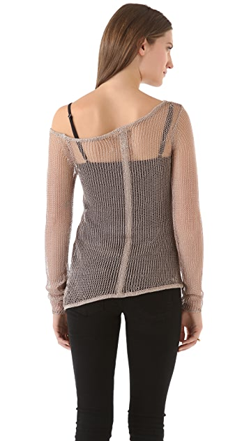 Chaser Metallic Off the Shoulder Top