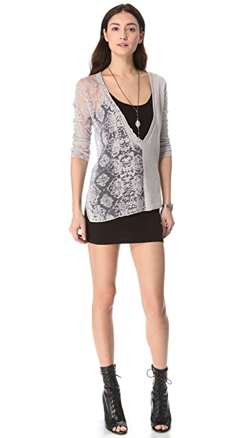 Chaser Deep V Destroyed Pullover